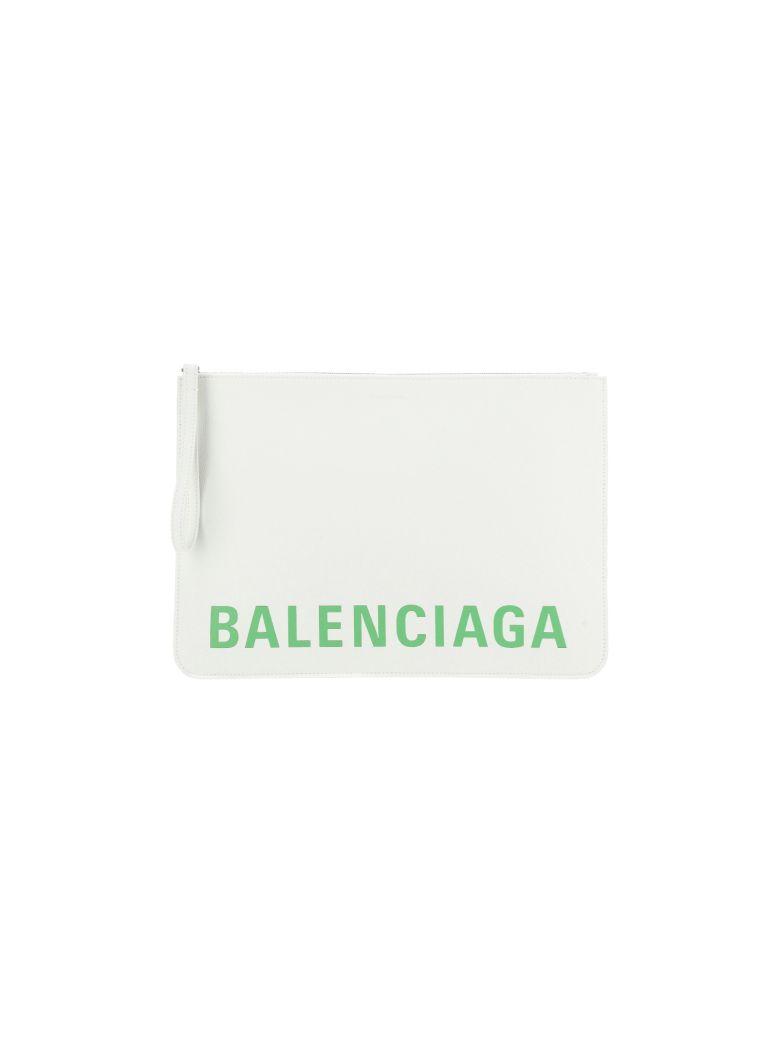 Balenciaga Pouch - White/l light green