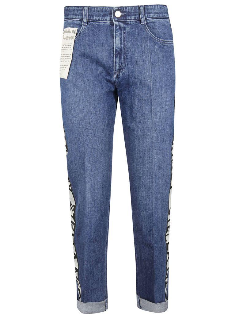Stella McCartney Logo Stripe Boyfriend Jeans - Dark Blue