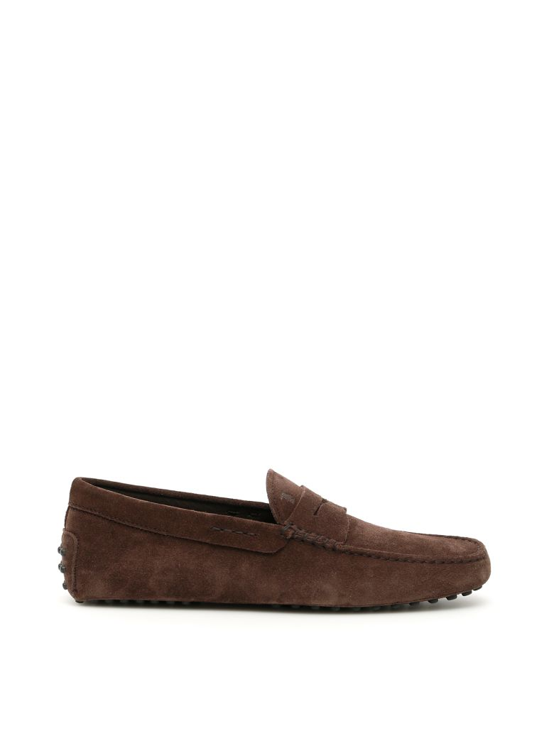Tod's Suede Gommino Loafers - TESTA DI MORO (Brown)
