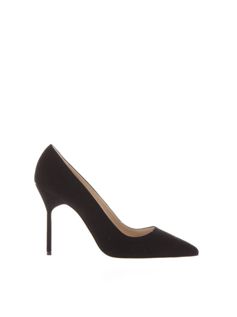 Manolo Blahnik Black Suede Bb Pumps - Black