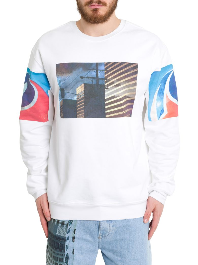 Calvin Klein Ec Graphic Printed Sweatshirt - Bianco