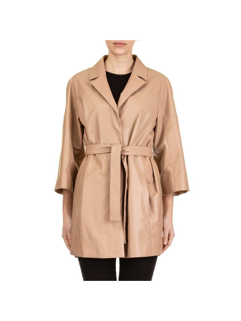 DROMe Leather Jacket - BEIGE
