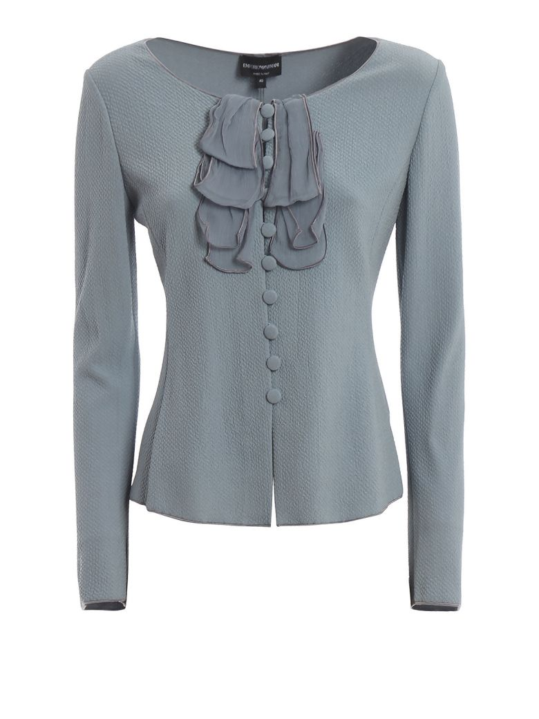 Emporio Armani Fitted Jacket - Stone Blue