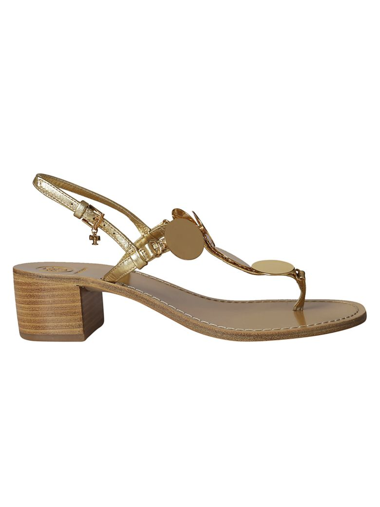 Tory Burch Patos Disc Sandals - Gold