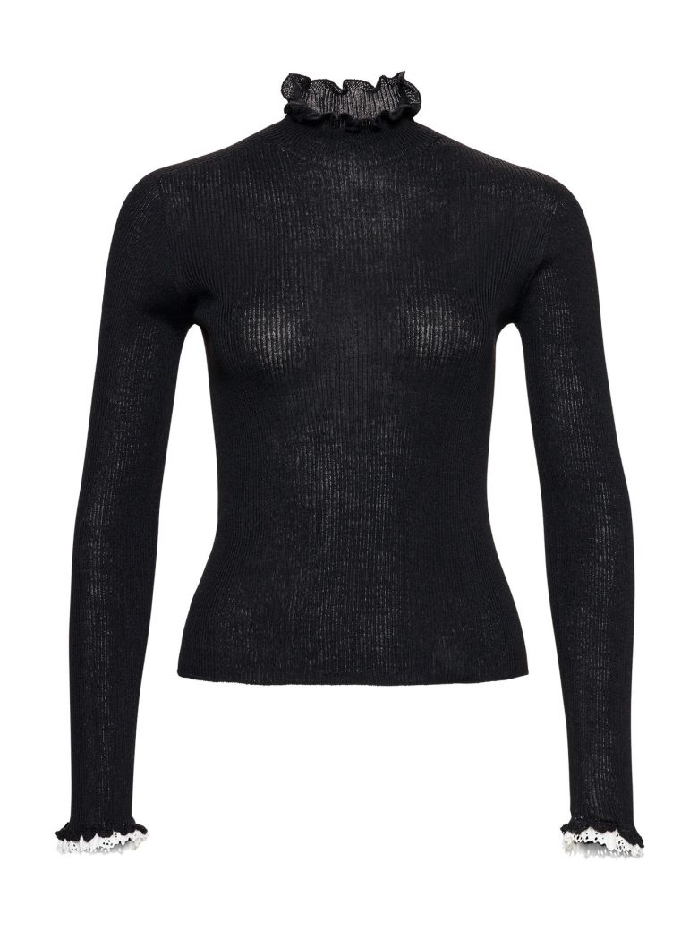 Philosophy di Lorenzo Serafini Ribbed High Neck Sweater - Black