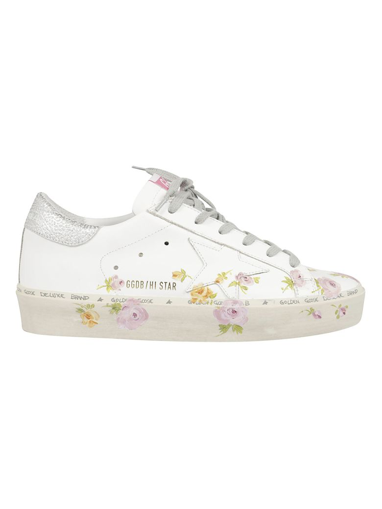 Golden Goose Floral Print Sneakers - White Flowers