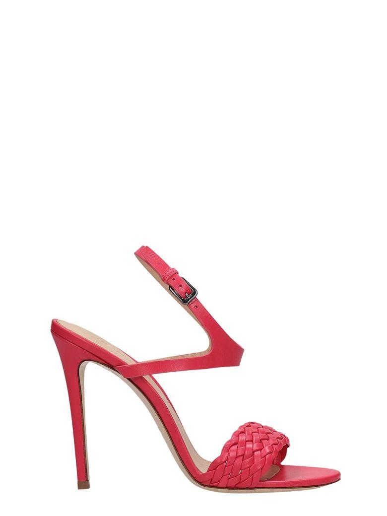 Dei Mille Fuchsia Leather Sandals - fuxia