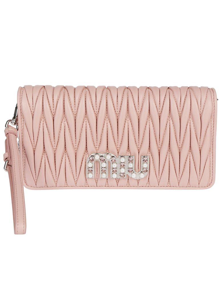 Miu Miu Quilted Shoulder Bag - Pink