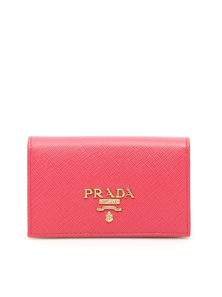Prada Saffiano Cardholder - PEONIA (Pink)