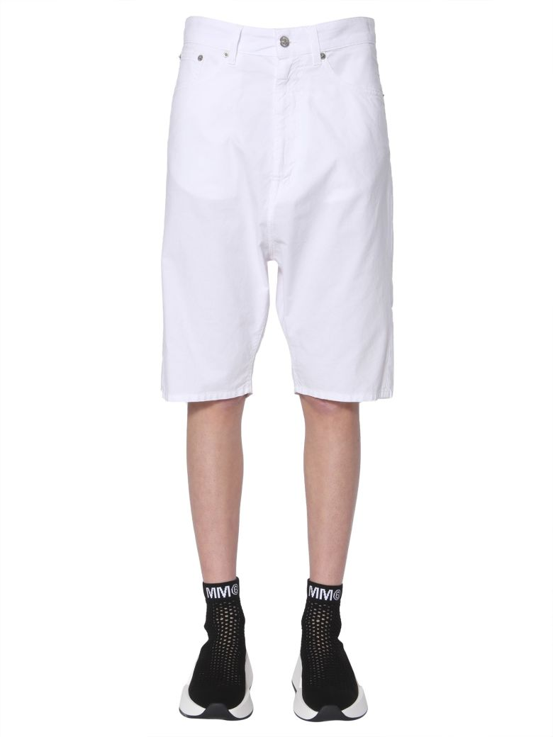 MM6 Maison Margiela Cropped Shorts - BIANCO