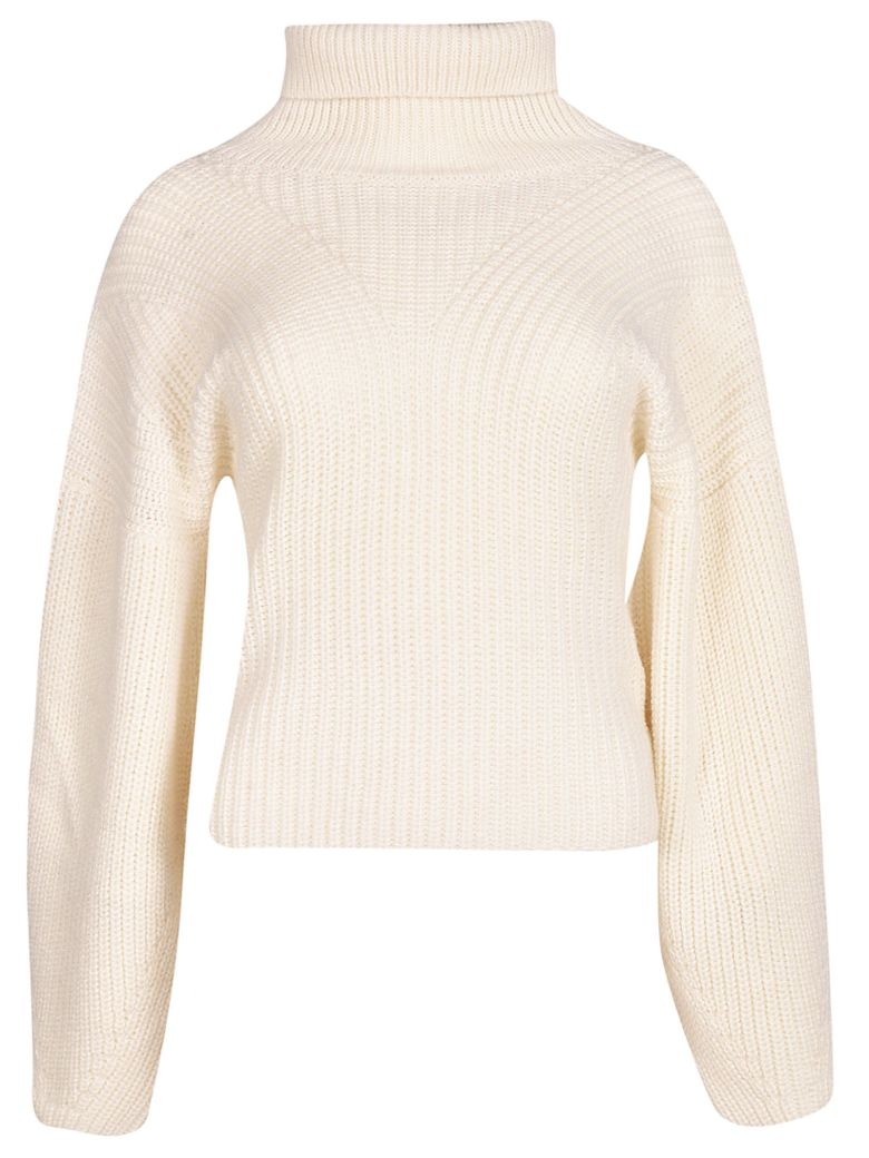 Tela 9 Cropped Knitted Sweater - White