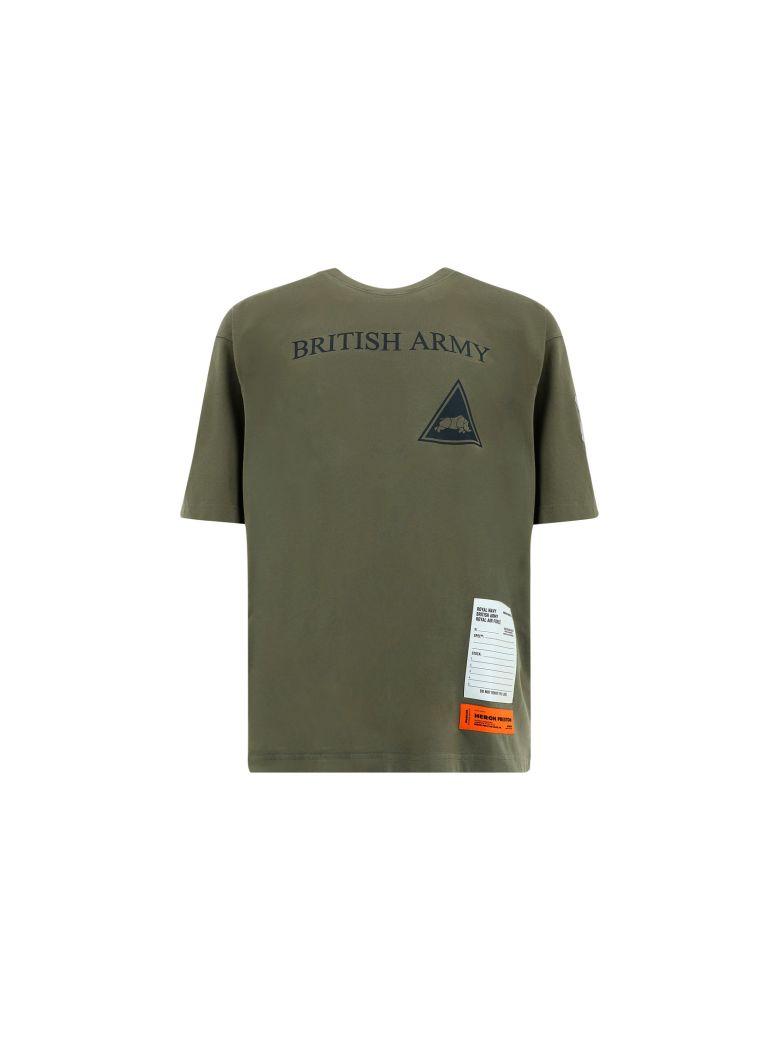HERON PRESTON T-shirt - Dark olive