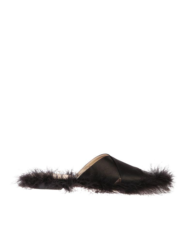 Simone Rocha Satin Flats - Black