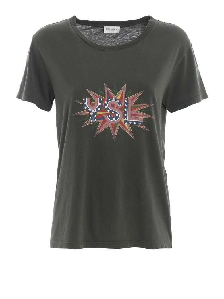 Saint Laurent Logo Print T-shirt - Basic