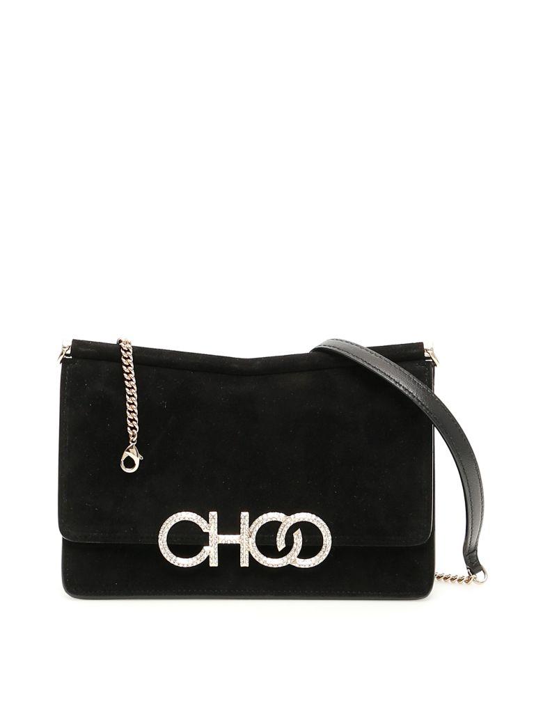 Jimmy Choo Crystal Logo Sidney Mini Bag - BLACK (Black)