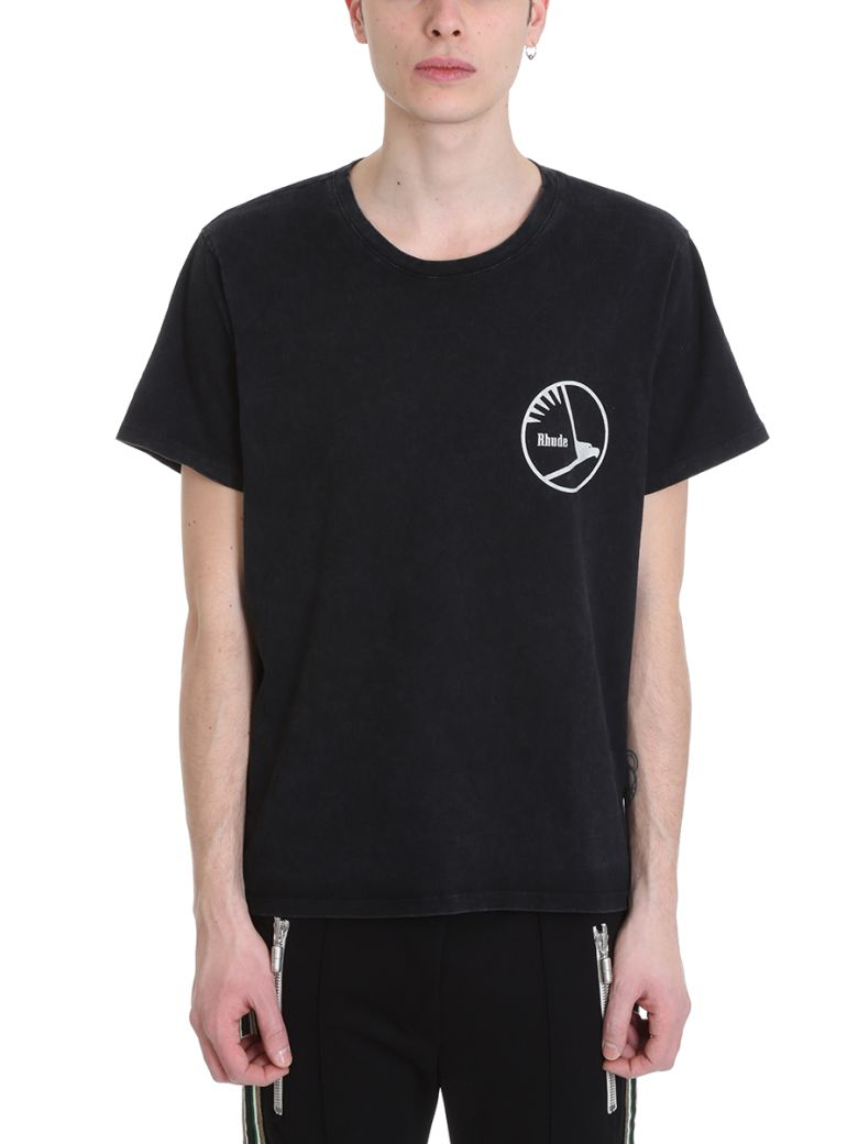 Rhude Engines Black Cotton T-shirt - black