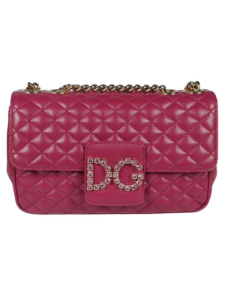 Dolce & Gabbana Quilted Shoulder Bag - fuchsia