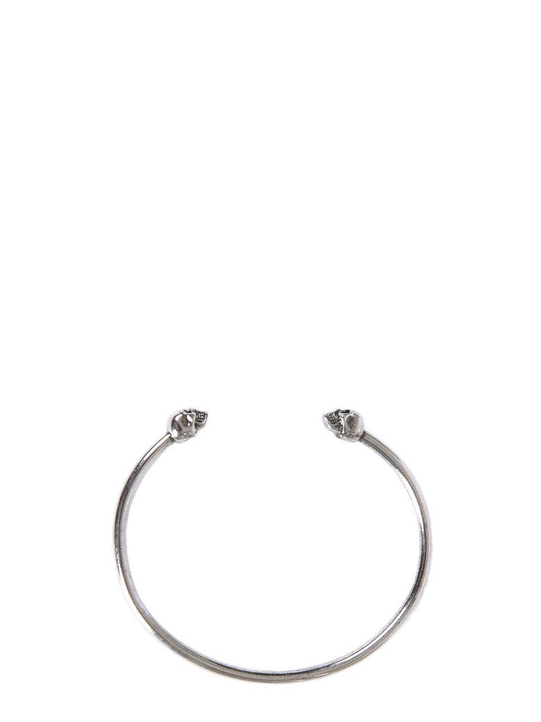 Alexander McQueen Twin Skull Bracelet - ARGENTO