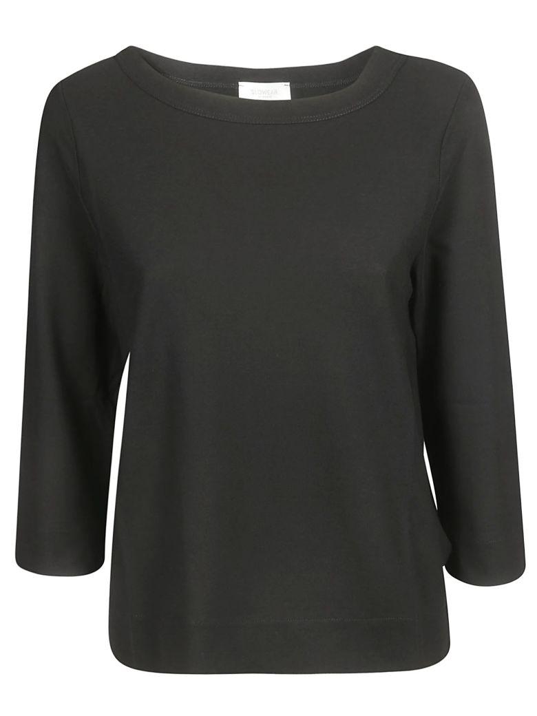 Zanone Three-quarters Sleeve T-shirt - Black