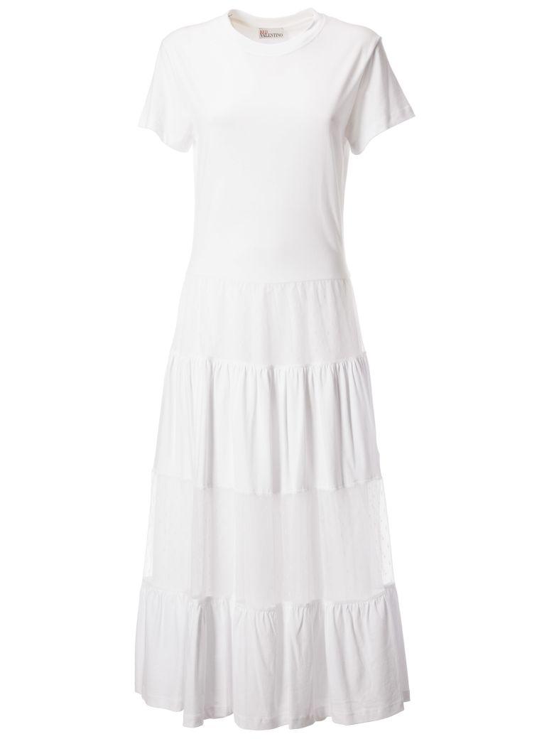 RED Valentino Jersey Dress - Bianco