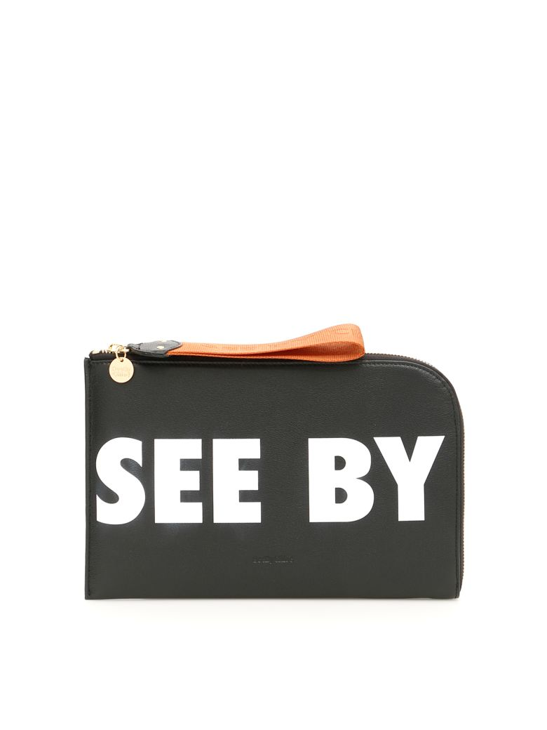 See by Chloé Logo Joris Clutch - BLACK|Nero