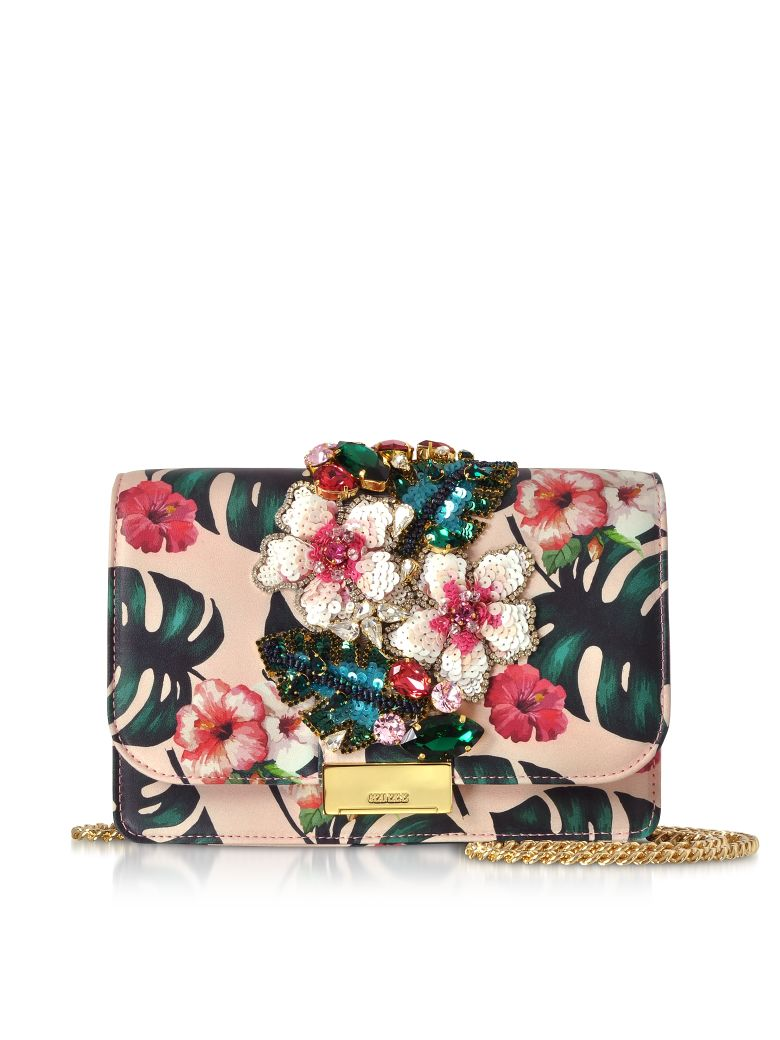 Gedebe Cliky Pink Monstera Clutch - Pink