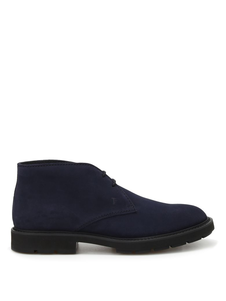 Tod's Suede Desert Boots - Blue