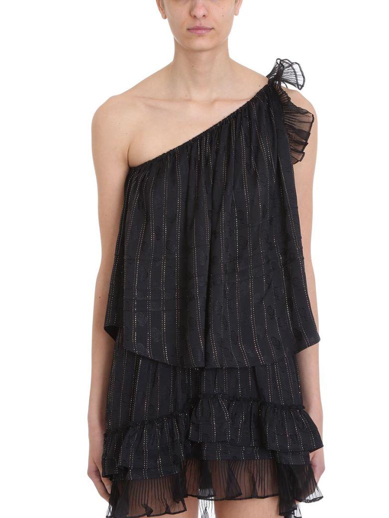 Isabel Marant Melody One-shoulder Silk Top - black