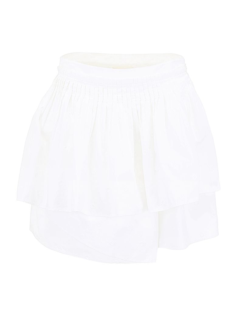 Ulla Johnson Pleated Alice Skirt - BLANC (White)