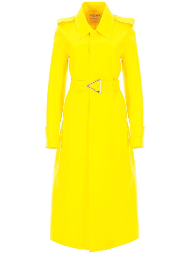 Bottega Veneta Rubber Trench Coat - YELLOW (Yellow)
