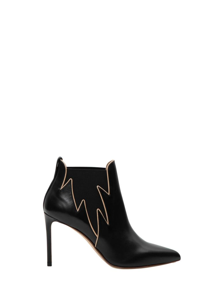 Francesco Russo Flame Ankle Boots - Nero