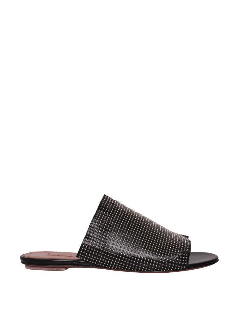 Alaia Leather Studded Sandals - NERO