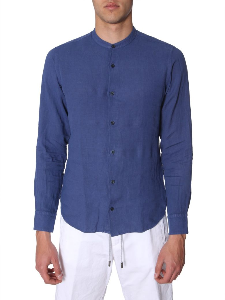 Z Zegna Korean Collar Shirt - BLU