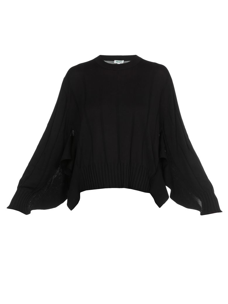 Kenzo Cotton And Silk Sweater - Black