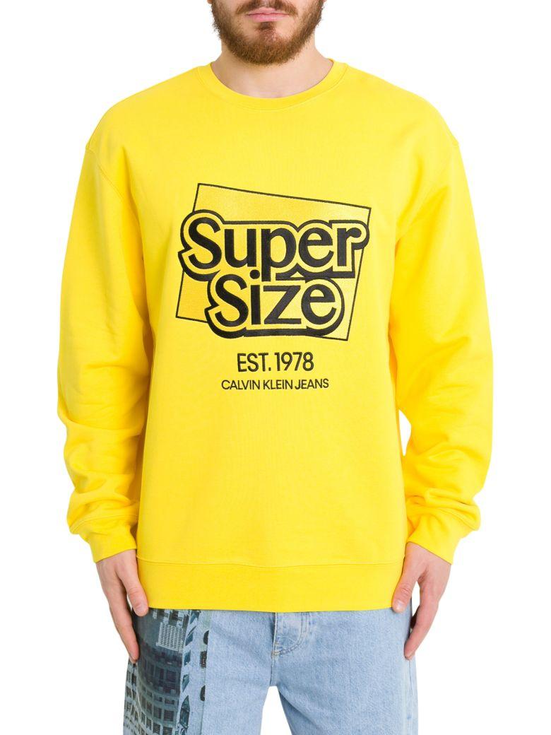 Calvin Klein Super Size Sweatshirt - Giallo