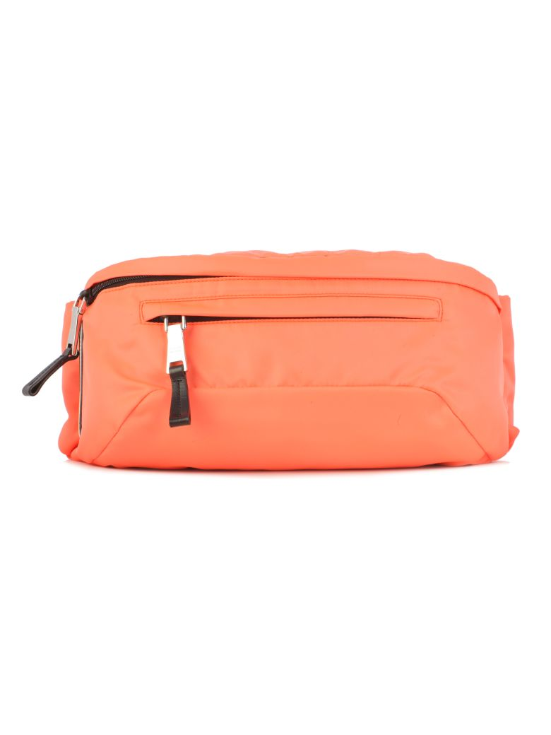 Prada Classic Belt Bag - Xyb Orange Fluo Black