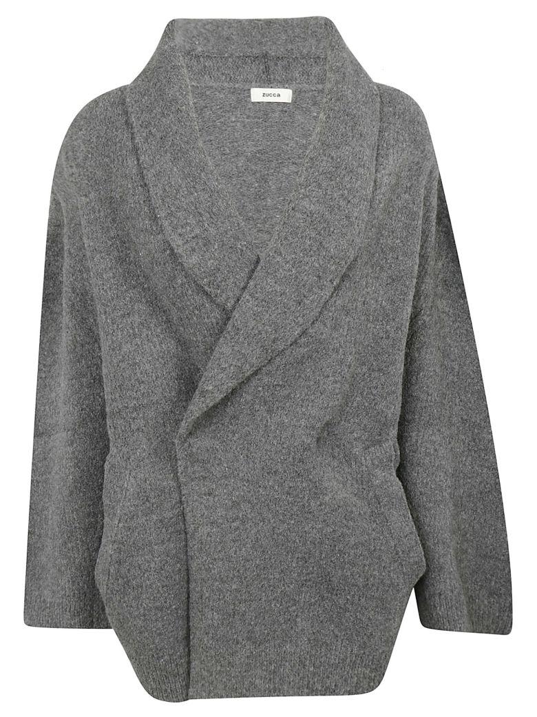 Zucca Wrap Style Cardigan - Gray