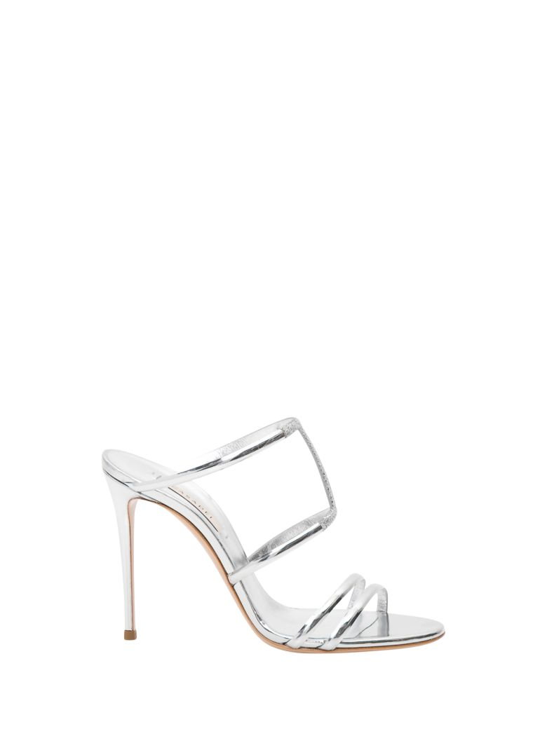 Casadei Silver Sandals With Rhinestones - Argento
