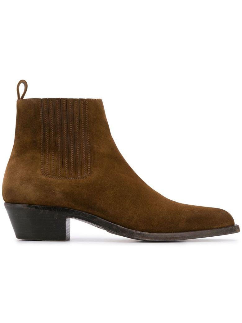 Saint Laurent Wyatt Chelsea Boots - Land