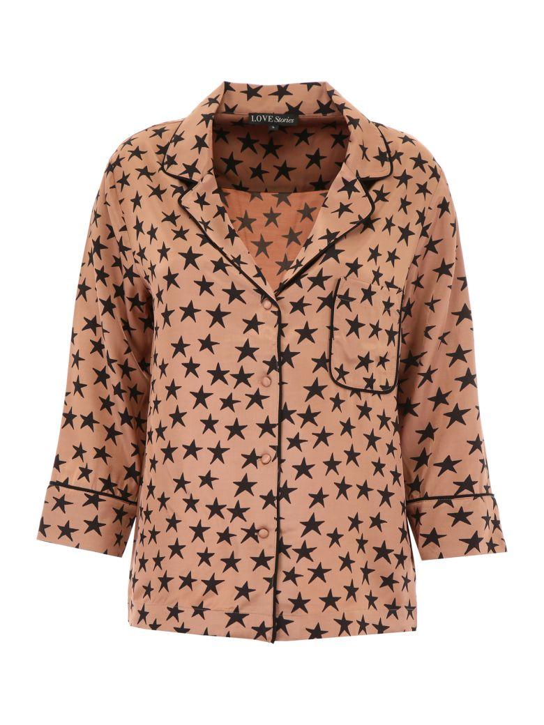 LOVE Stories Jude L Pyjama Shirt - BROWN (Brown)