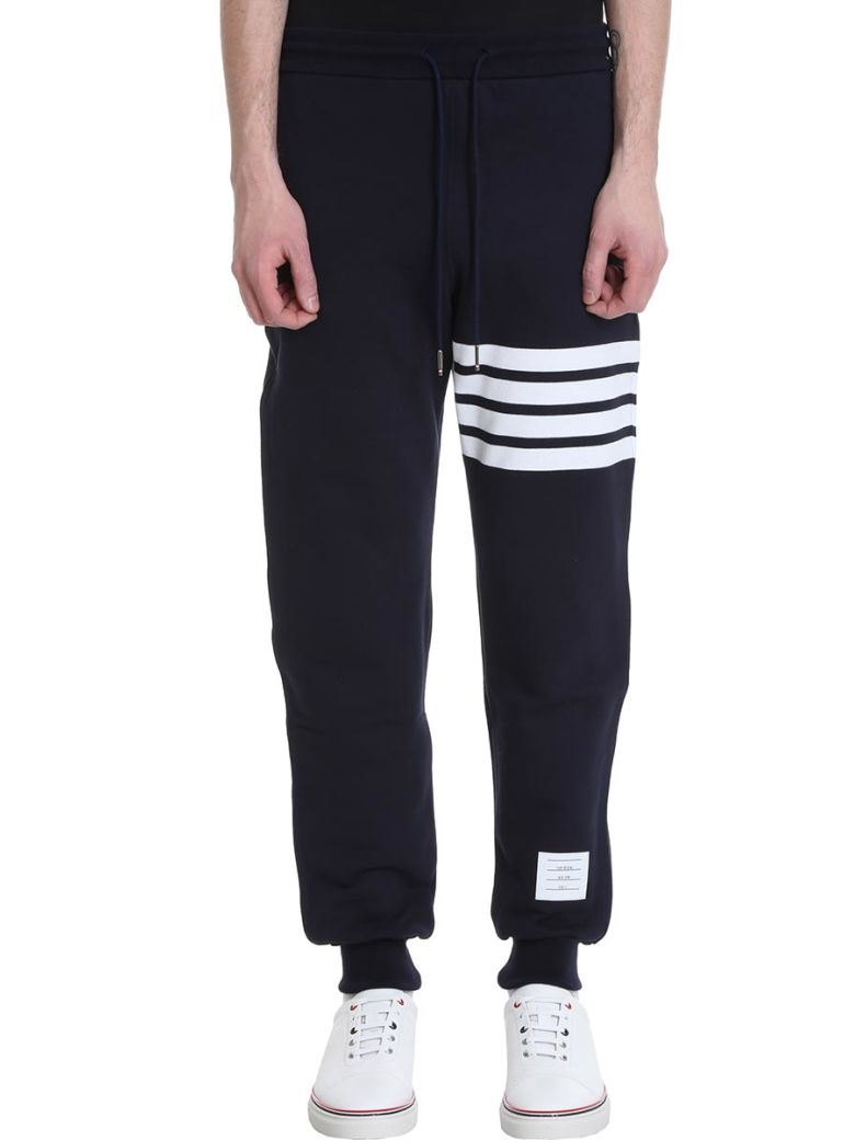 Thom Browne Blue Cotton Pants - Blue