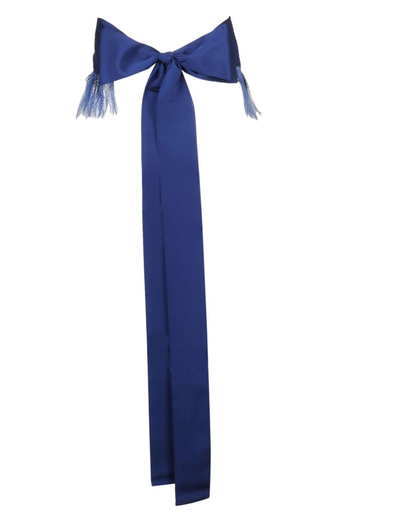 Sara Roka Tied Feathery Belt - Blue