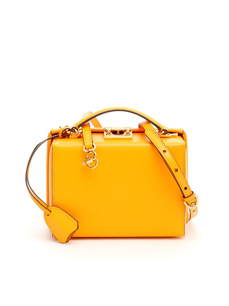 Mark Cross Grace Small Bag Caviar - MARIGOLD (Yellow)