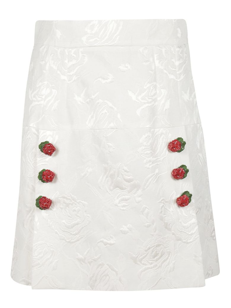 Dolce & Gabbana Floral Mini Skirt - white