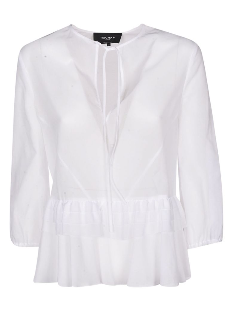 Rochas Ruffled Top - White