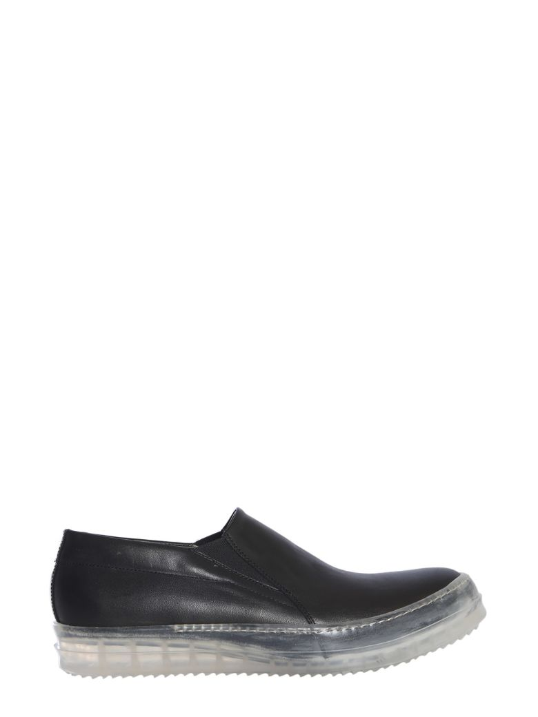 Rick Owens Sneakers With Transparent Outsole - NERO