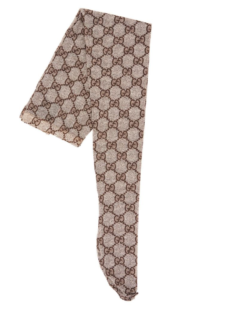 Gucci 'gg Interlocking' Tights - Brown