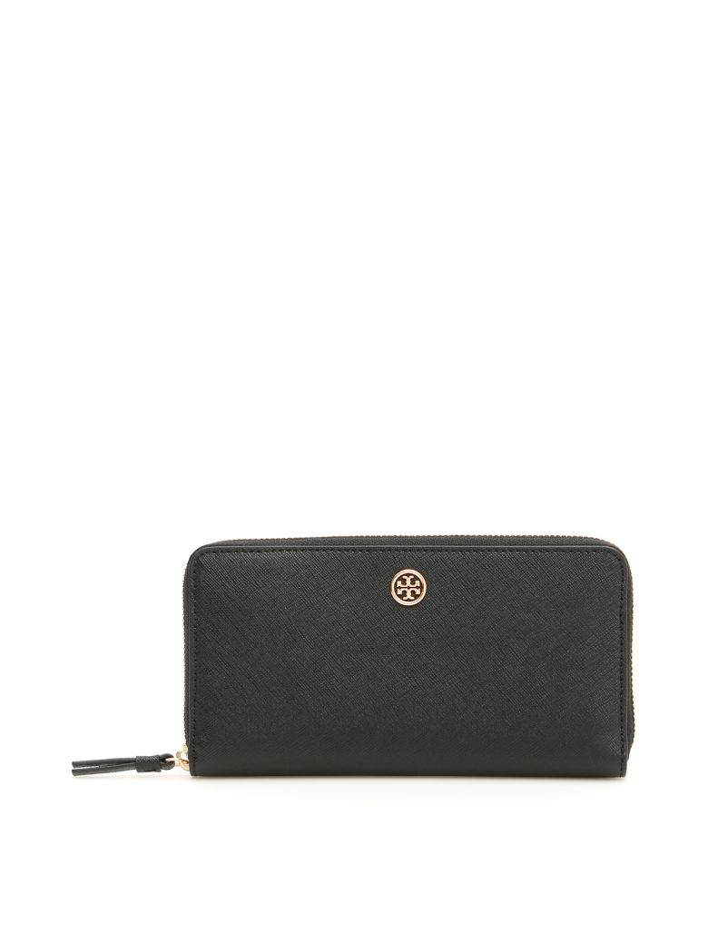 Tory Burch Robinson Wallet - BLACK / ROYAL NAVY (Blue)