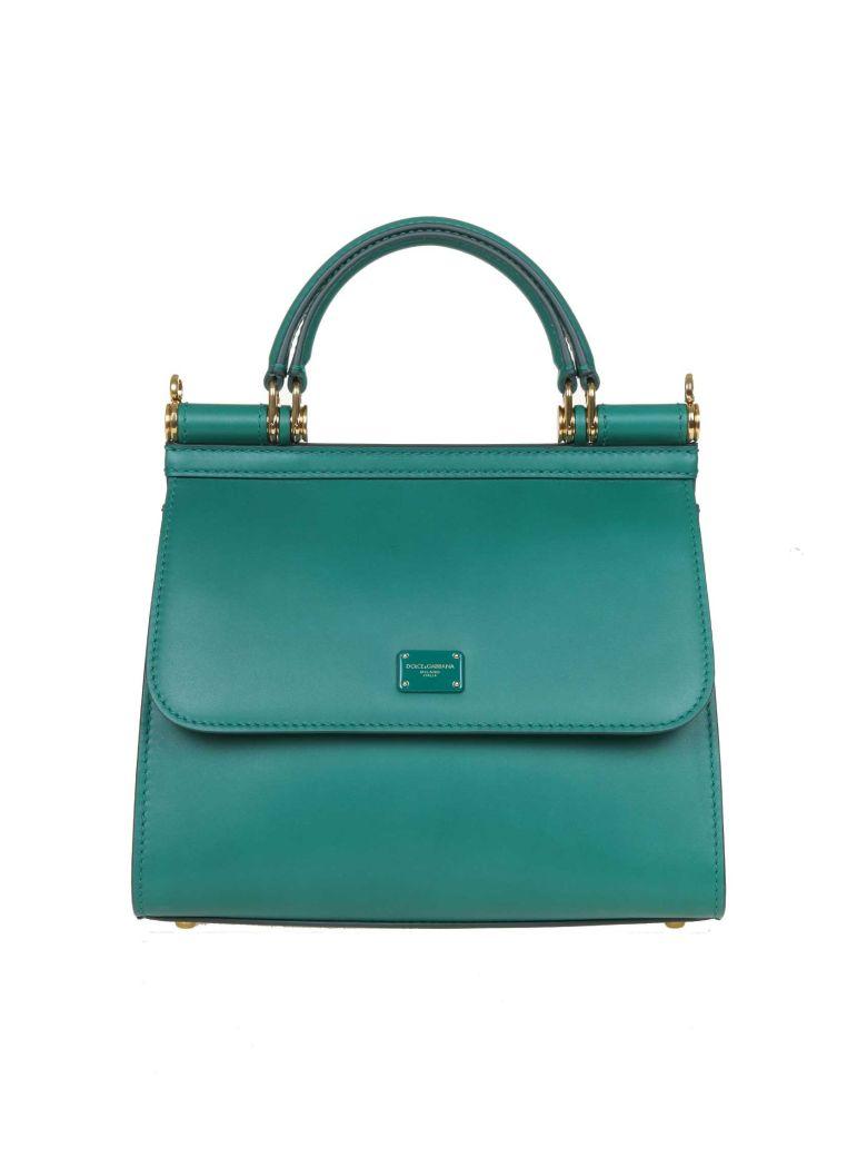 Dolce & Gabbana Sicily Bag 58 Small In Calf Leather - EMERALD