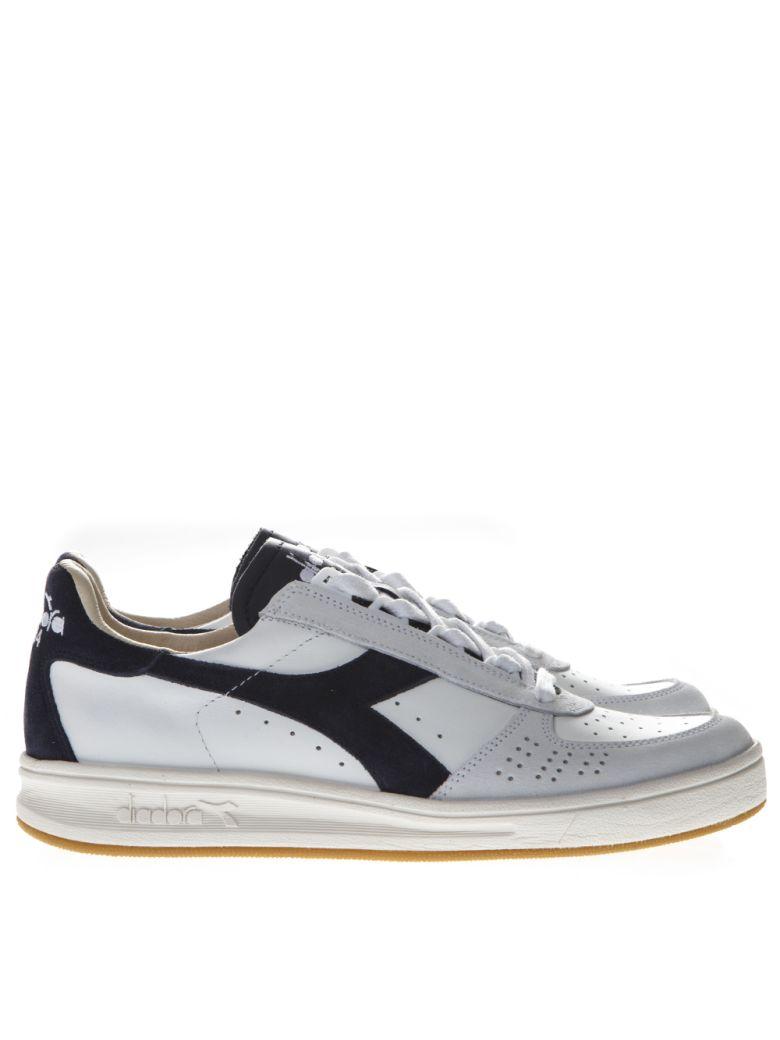 Diadora Sneakers ELITE WHITE & BLUE LEATHER SNEAKERS